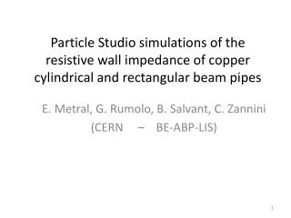 Particle Studio simulations of the resistive wall impedance of copper cylindrical and rectangular beam pipes