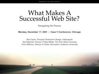 What Makes A  Successful Web Site Navigating the Process