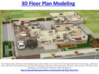3D Floor Plan Modeling
