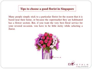 Tips to choose a good florist in Singapore