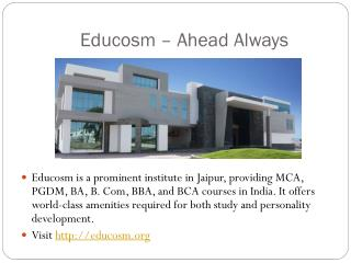 World Class Education in Technical and Management by Educosm