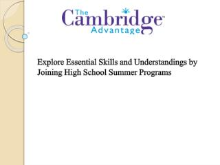 Explore Essential Skills and Understandings by Joining High