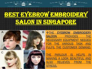 Best Eyebrow Embroidery Salon in Singapore