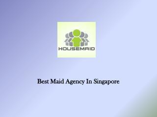 Maid Singapore