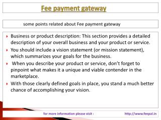 An Introduction about the fee payment gateway