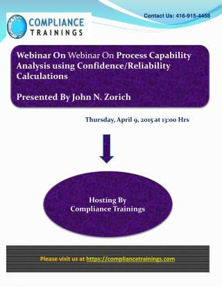 Process Capability Analysis using Confidence/Reliability Cal