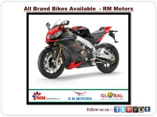 All Brand Bikes Available - RM Motors