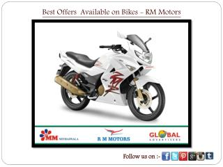 Best Offers Available on Bikes - RM Motors