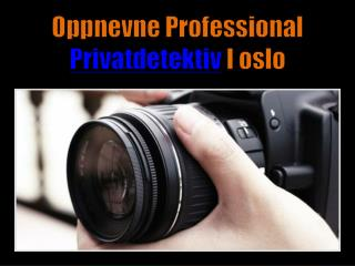 Oppnevne Professional Privatdetektiv I oslo
