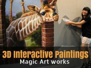 3D Interactive Paintings - Magic Art Works