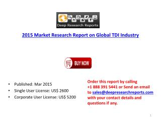 2015 Global Toluene diisocyanate (TDI) Market Classification