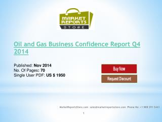 Oil and Gas Business Confidence Q4 2014 Market