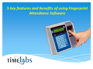 Fingerprint Attendance Software System
