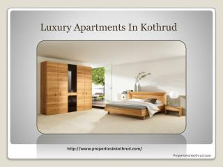 Propertiesinkothrud Offering Luxury Apartments In Kothrud