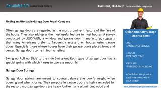 Finding an Affordable Garage Door Repair Company