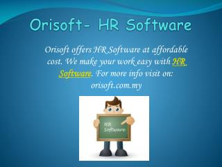 Make your work easy with Orisfot