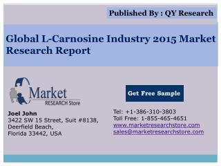 Global L-Carnosine Industry 2015 Market Analysis Survey Rese