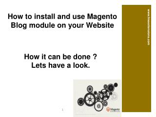 Blog Module by FME for Magento