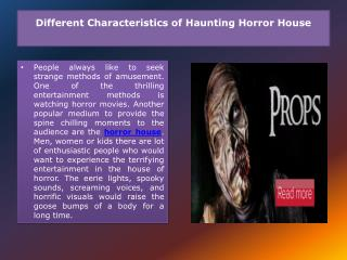 Horror House Manufacturer