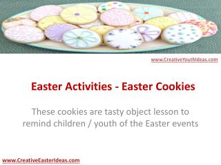 Easter Activities - Easter Cookies