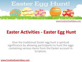 Easter Activities - Easter Egg Hunt