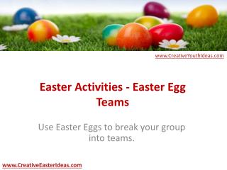 Easter Activities - Easter Egg Teams
