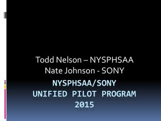 NYSPHSAA SONY Unified Sports (2015)