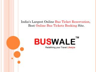 online bus tickets booking | bus ticket reservation - buswal