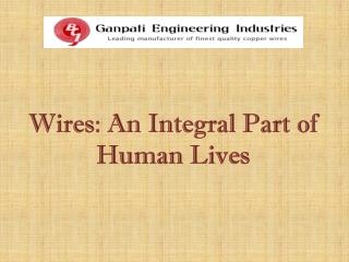 Wires - An Integral Part of Human Lives
