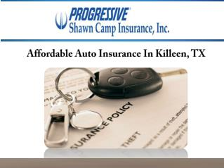 Affordable Auto Insurance In Killeen, TX