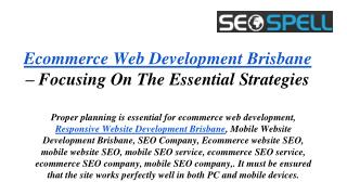 Ecommerce Web Design company Brisbane /Web Development Compa
