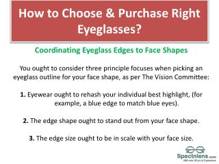 How to choose best eyeglasses to buy