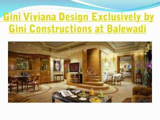 Flats in Kharadi by Gini Constructions Named as Gini Viviana