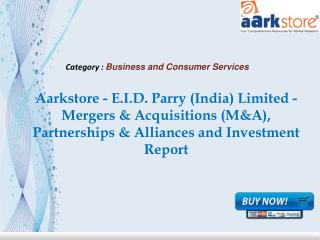 Aarkstore - E.I.D. Parry (India) Limited