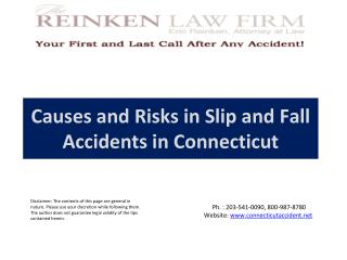Causes and Risks in Slip and Fall Accidents in Connecticut