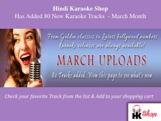 Hindi Karaoke Shop Has Added 80 New Karaoke Tracks