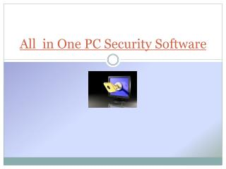 All one PC Security Software