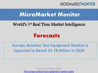 Europe Aviation Test Equipment Market is Expected to Reach $