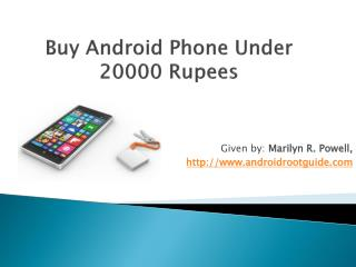 Buy Android Phone Under  20000 Rupees