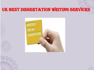 UK best dissertation writing services