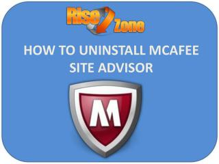 How to Uninstall McAfee Site Advisor