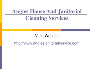 Janitorial Services,Carpet cleaning-Angies Cleaning