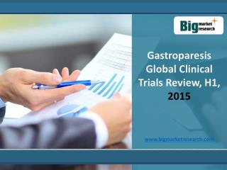 Gastroparesis Market Global Clinical Trials Review, H1, 2015