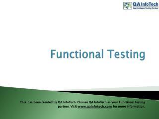 funcional testing powerpoint from QA InfoTech