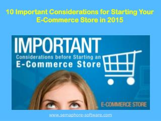 10 Tips to start off your Online Store in 2015
