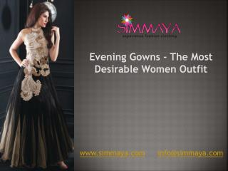 Be the Center Attraction of Party with Designer Evening Gown