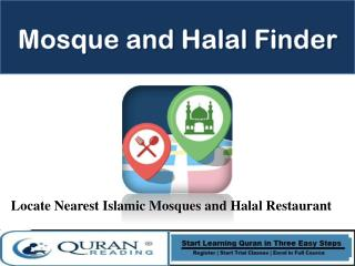 Mosque and Halal Finder Android App