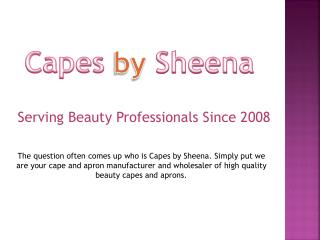 Salon Uniforms by Capes by Sheena