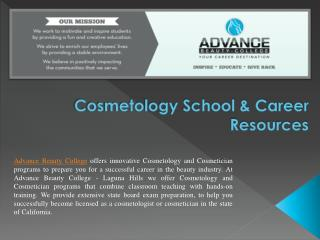 Cosmetology School & Career Resources