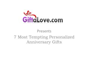 Personalised Anniversary Gift Ideas
